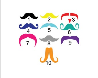 Mustache decal, funny decal, Mustache tumbler decal, mustache car sticker, front bumper car decal, cute girly mustache, humorous vinyl decal