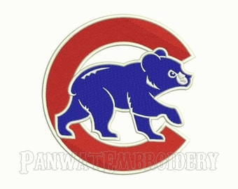8 Size Chicago Cubs Logo Embroidery Designs, Machine Embroidery Designs, Baseball Embroidery Designs - INSTANT DOWNLOAD