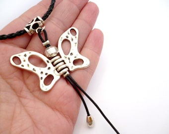 Silver Plated Butterfly Necklace_BN0112458_Fashion Accessories_Gift Ideas