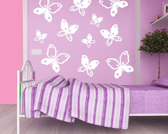 Butterflies Wall decal, Butterfly wall decal, Kids room wall decal, Nursery room wall decal, Wall art, Butterfly wall vinyl, wall decor 209
