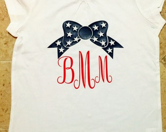 4th of July/Independence/America Shirts----Red, White, & Blue----Bow or Shades