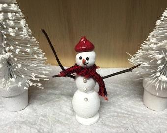 Miniature Snowman, Miniature Fairy Garden Snowman, Miniature Terrarium Snowman, Miniature Dollhouse Snowman, Miniatures, Christmas, Holiday