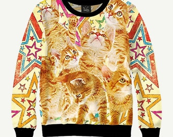 Red Cat, Ginger Cat - Men's Women's Sweatshirt | Sweater - XS, S, M, L, XL, 2XL, 3XL, 4XL, 5XL