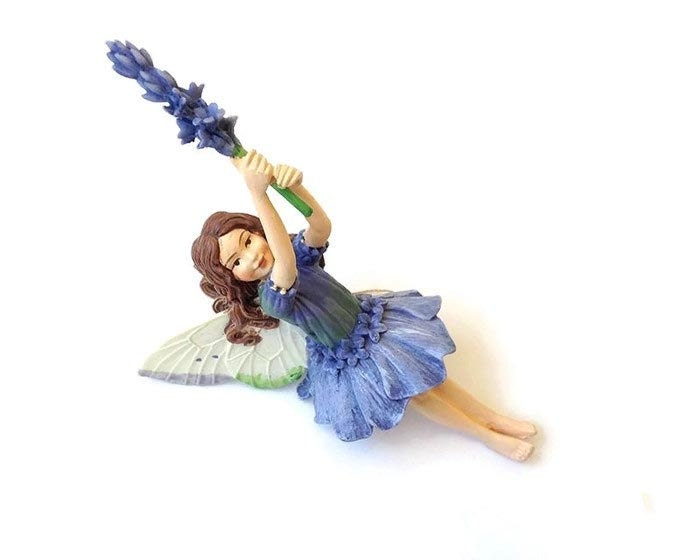 Lavender fairy figurine fairy garden miniature fairy garden for Fairy garden figurines