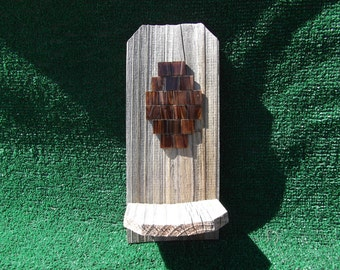 Reclaimed Wood Wall Candle Holder - Summer Special