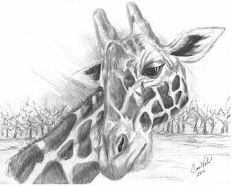 Notecards - Giraffe