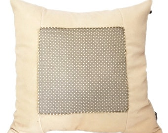 Velvet Child  Telly-pillow Beige dot