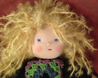 Anna-Mari, 14 Inches, Hippie Girl Waldorf doll by Susanne Mensing-Varila (Finland)