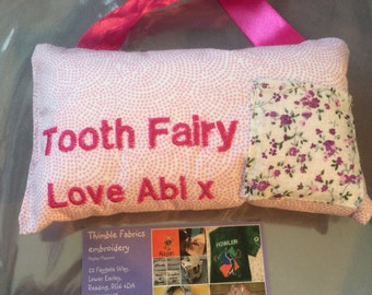 Boys and Girls tooth fairy pillow to hang