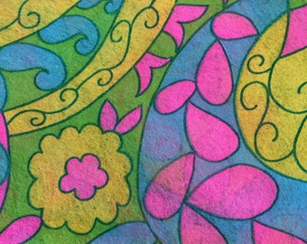 Psychedelic Paisley Paper Dress 70's Vintage