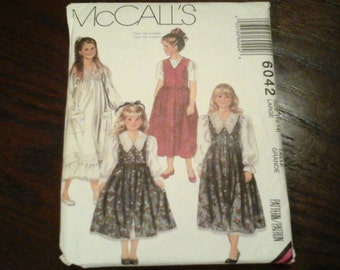 McCall's 6042 children's and girls dress and jumper