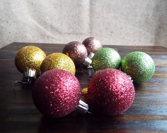 Christmas Ornament Ball Glitter Earrings