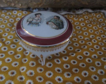 box jewelry napoleon and Josephine, porcelain limoges, France