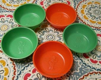 Vintage 1933 Beetleware Skippy Bowls - Set of 5 cereal bowls - P.L. Crosby