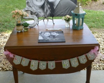 Wedding Guest Book Banner