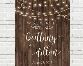 Rustic WEDDING WELCOME SIGN, Rustic Wedding Signs, Large Wedding Signs, Wedding Signage, Wood Wedding Signs, Wedding Decorations