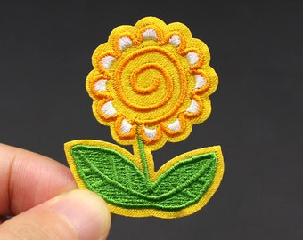 Sunflower Iron On Patch Embroidered patch 3.6x4.6cm - PH316