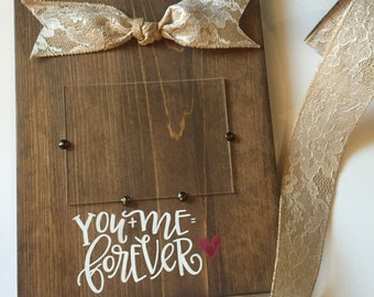 You + Me Solid Wood Frame