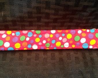 RED MULTI Color Polka Dot Greyhound Tag Collar