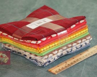 "Robert Kaufman Fat Quarter Bundle Studio Stash 14 pieces in 18"" x 22"" cuts"