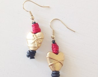 The Red Heart Earrings