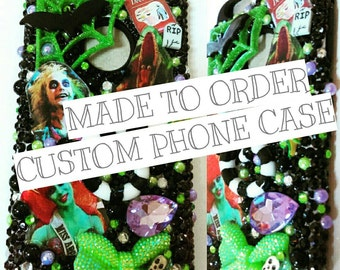 Custom Bling Decoden Made to Order Impact Tough Phone case Any theme Any Phone