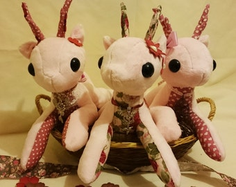 Light Pink Patchwork Reindeer