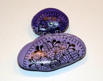 Fridge Pebble magnets mice / mouse