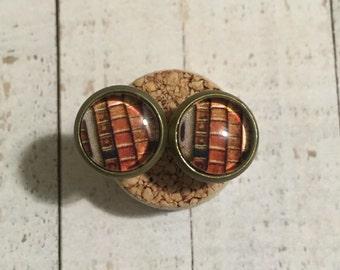 Book Spine Earrings