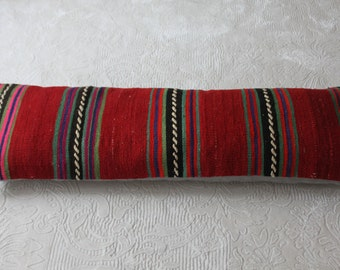 16x48 Lumbar Kilim Pillow, Turkish Kilim Lumbar Pillow 16x48 Kilim Pillow,Vintage Kilim Pillow,King Size Pillow,Bedding Pillow,Long Pillow 1