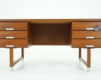 307-005 SALE! Danish Mid Century Modern Teak Office Desk by Kai Kristiansen