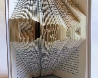 Father's Day Gift for Dad - New Dad - Folded Book Art - Book Sculpture - Presents for Dad/Daddy/Father - Unique Gift