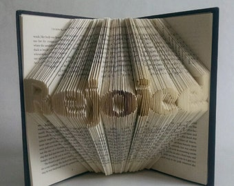 Religious Easter Decoration, Folded Book Art, Spiritual Decor