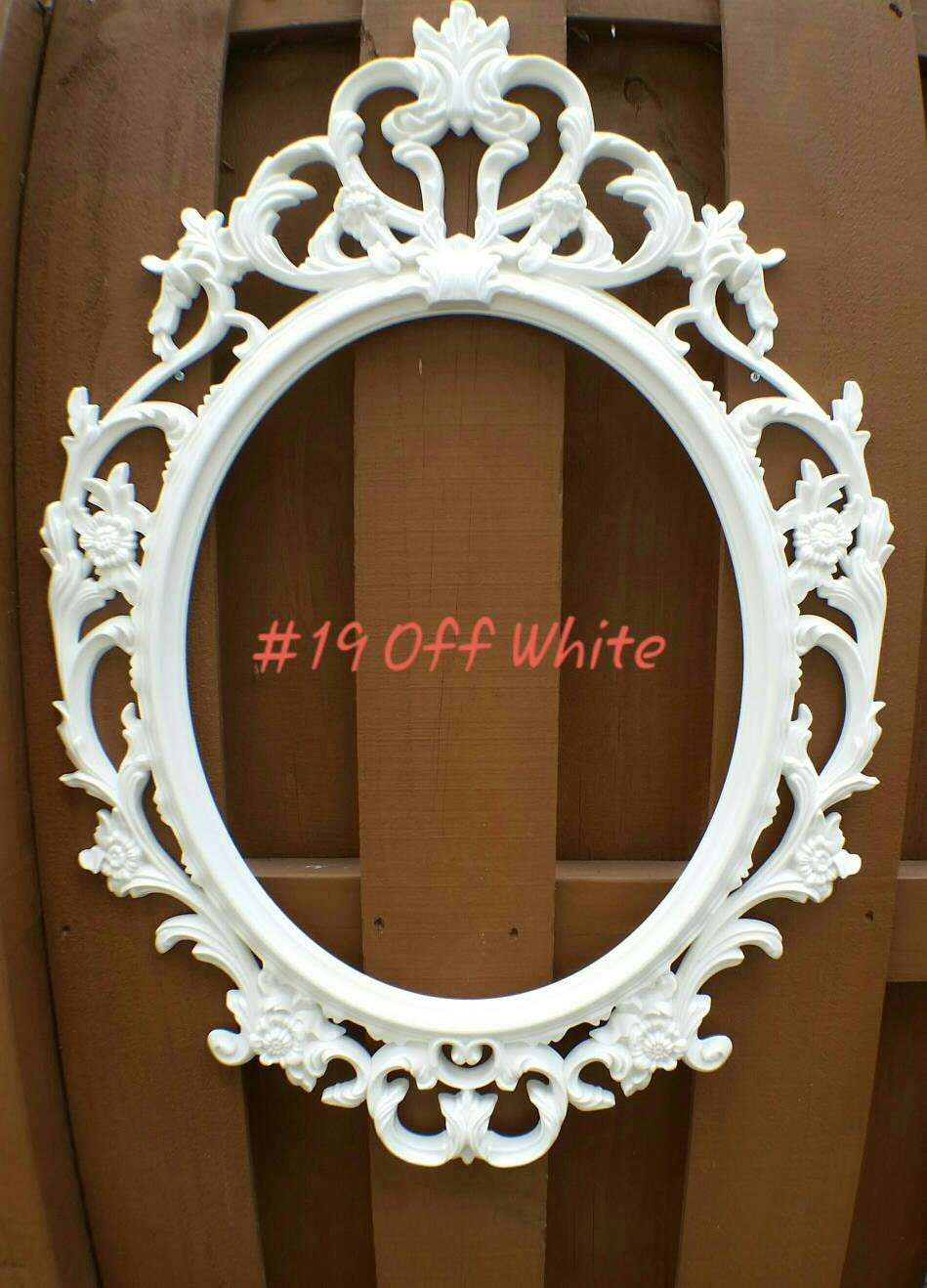 Ornate oval frame nursery wall decor with glass ornate oval wedding photo prop frame from - Oval wall decor ...