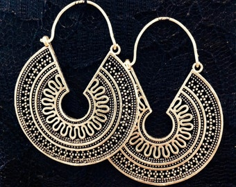 Indian Tribal Earrings, Ethnic Earrings, Loop Earings
