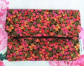 Beautiful Zipped Pouch Handmade with Liberty Fabric