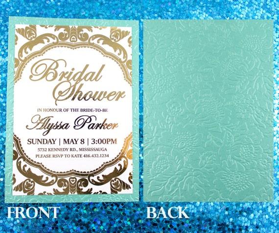 Gold Embossed Wedding Invitations: Gold Foil Embossed Invitation Peony Wedding Peonies Invite