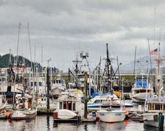 Boats In Harbor, Ketchikan, Alaska   8x10 Print Matted to 11x14