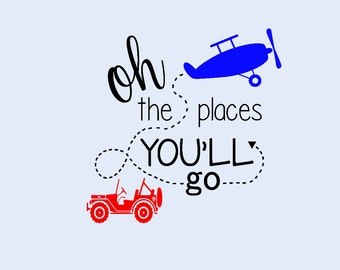 Oh The Places You'll Go Vinyl Decal