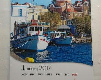 Greek calendar 2017 from Leros Island Greece