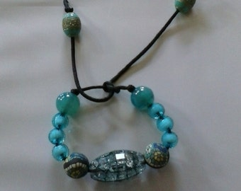 blue tie bracelet