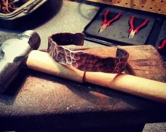 Handmade Hammered Copper & Metal Bracelets