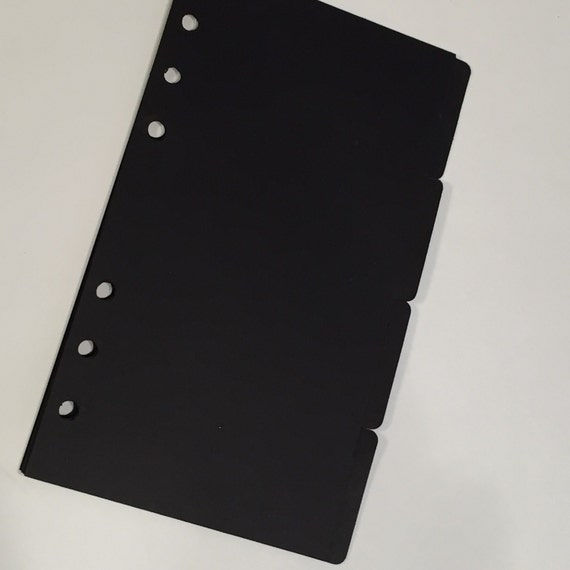 Blank Black 4 Tab Dividers With Dashboard