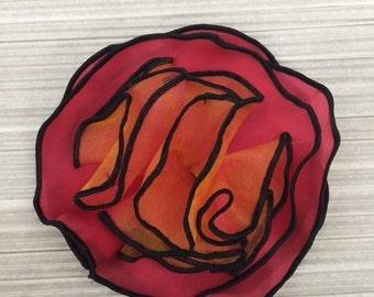 silk flower pins