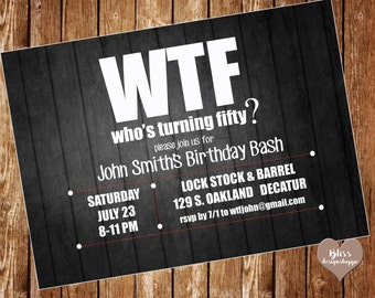 50th WTF Birthday Party Invitation