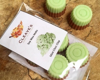 Mint Choc Chip Scented Soy Wax Melts