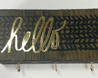 hello Hanger - Repurposed Upcycled Wood Art