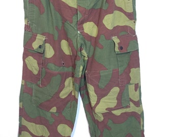 70's euro vintage camouflage cargo pants mens W36
