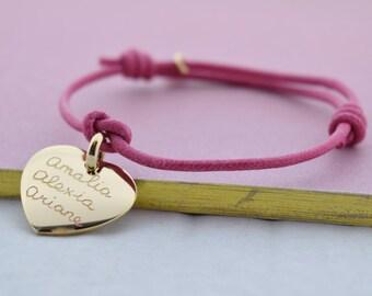 mamaloves personalised heart pendant bracelet
