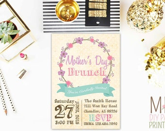 Mothers Day Invitation,Mothers Day Brunch Invitation,Mother Day Lunch,Mothers Day Invite,Mother's Day Brunch,Mothers Day Luncheon Invites